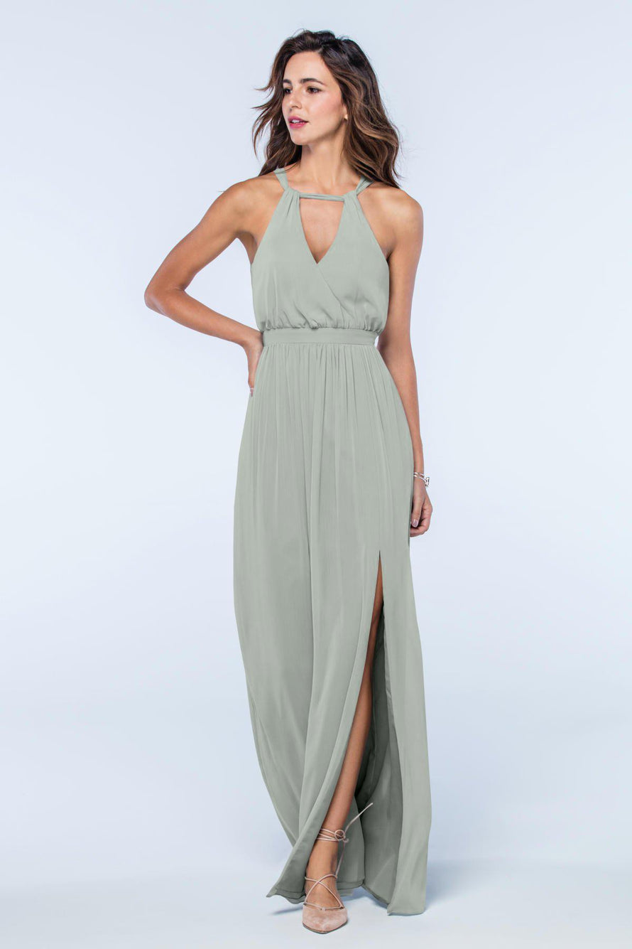 Watters Dress Fleurette sage