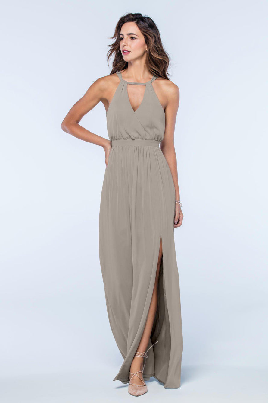 Watters Dress Fleurette sandstone