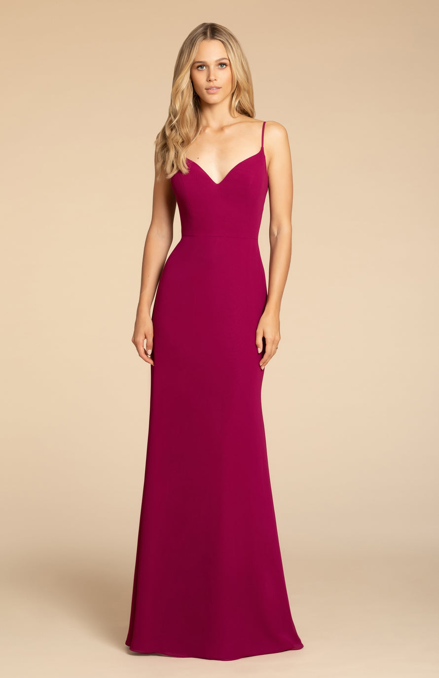 Hayley Paige Occasions Long Bridesmaid Dress - 5910 front