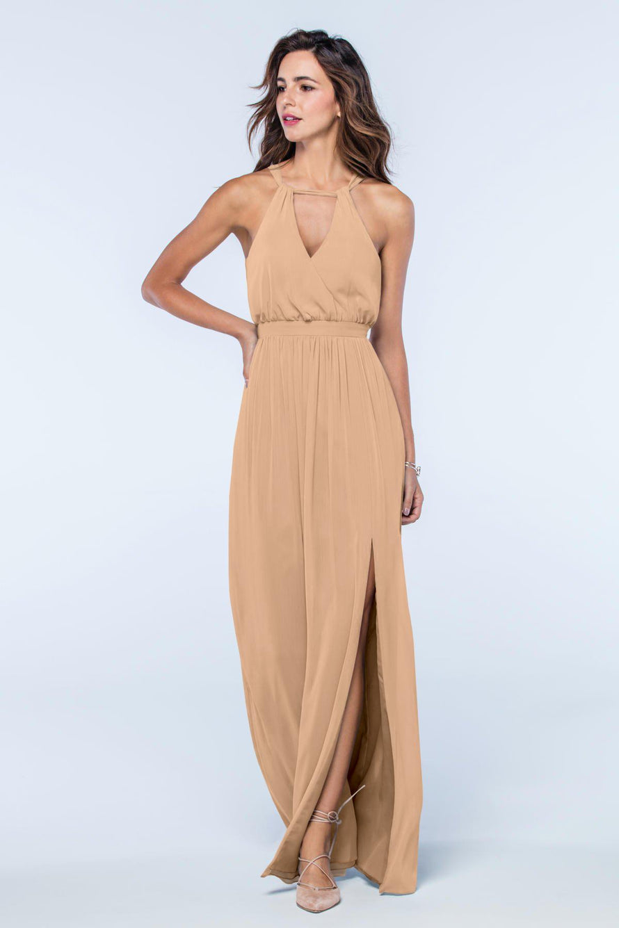 Watters Dress Fleurette umber