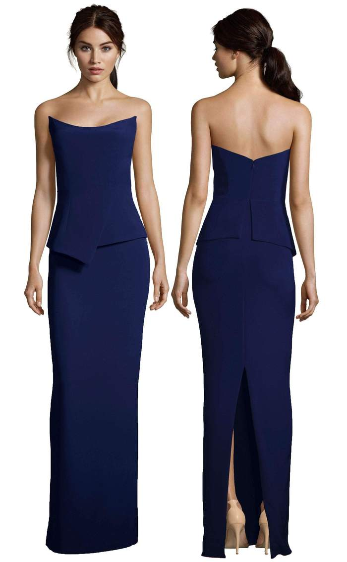 Altress Victoria Strapless with Peplum Bridesmaid Dress