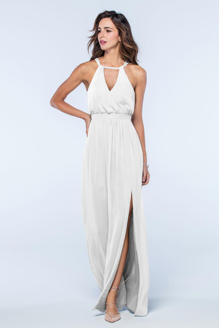 Watters Dress Fleurette white
