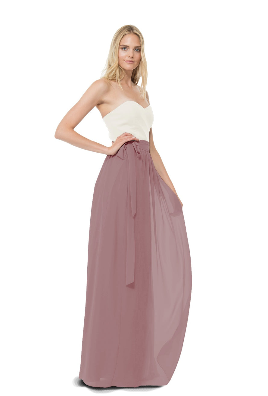Dusty Rose Joanna August Long Bridesmaid Skirt Whitney