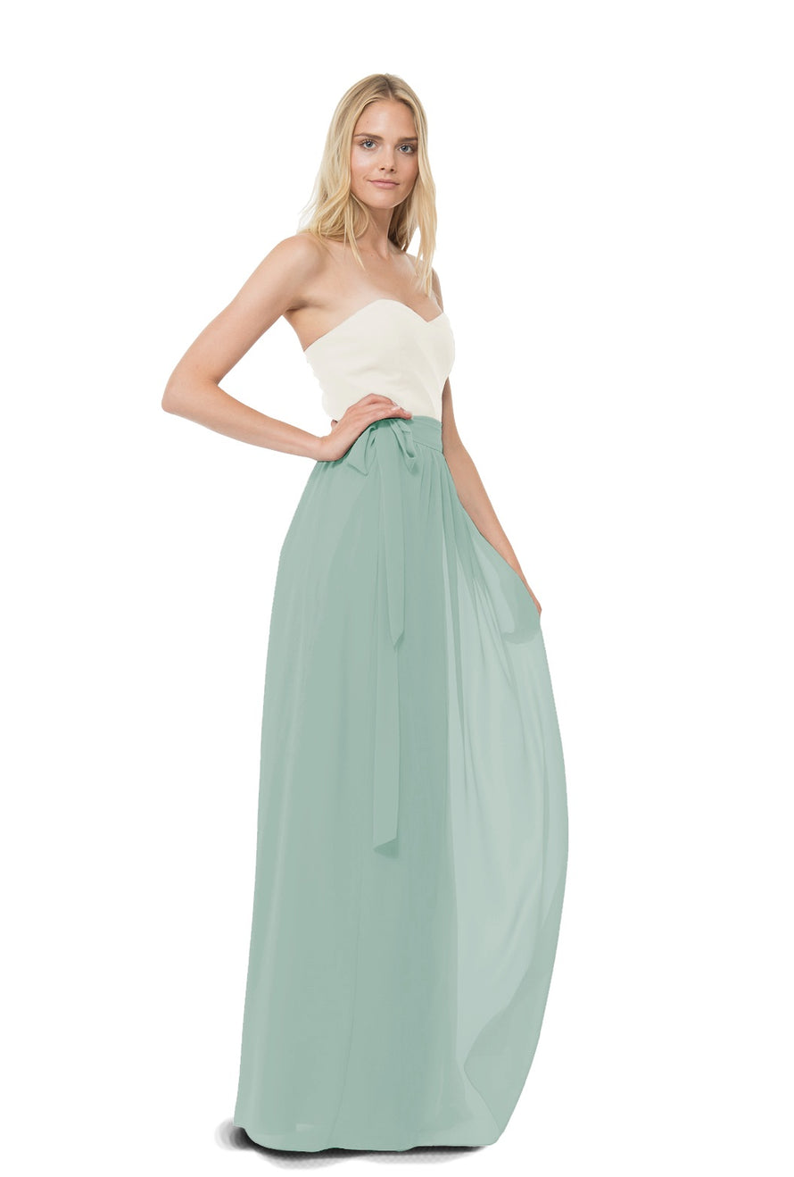 Sage Joanna August Long Bridesmaid Skirt Whitney