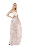 Joanna August Long Bridesmaid Skirt Whitney Print blush