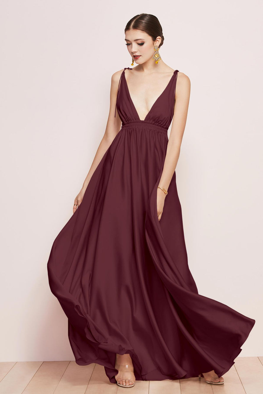 Watters Bridesmaid Dress Quentin wine