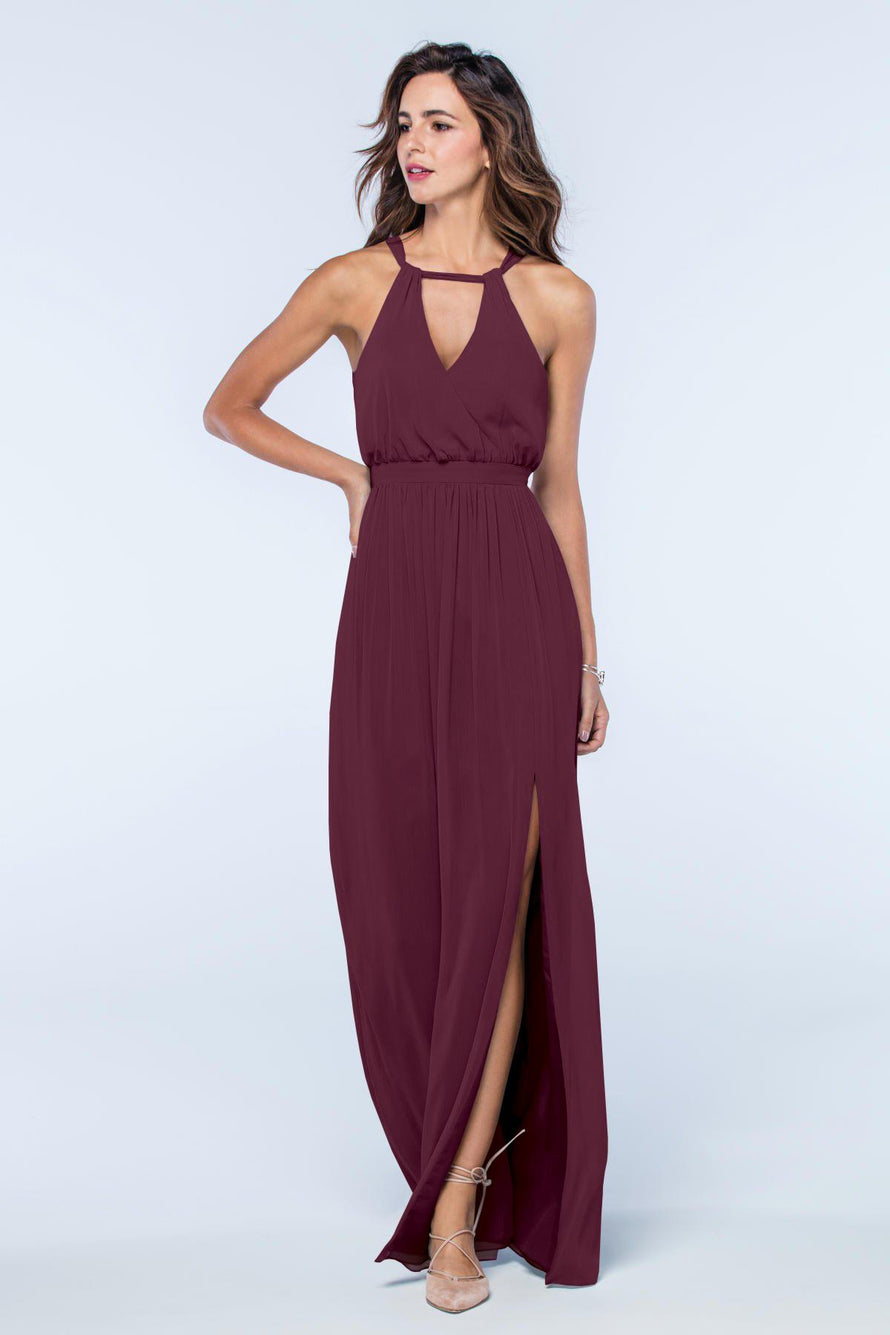Watters Dress Fleurette wine