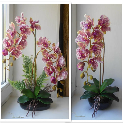 Orchid Real Touch Artificial Flower (1 stem)