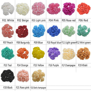 25 Heads 8CM Colorful Artificial Rose Flowers