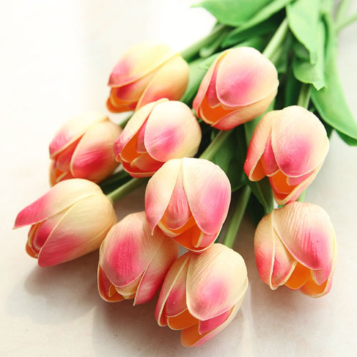 10 Tulip heads (Artificial Flowers)