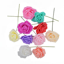 Load image into Gallery viewer, 25 Heads 8CM Colorful Artificial Rose Flowers