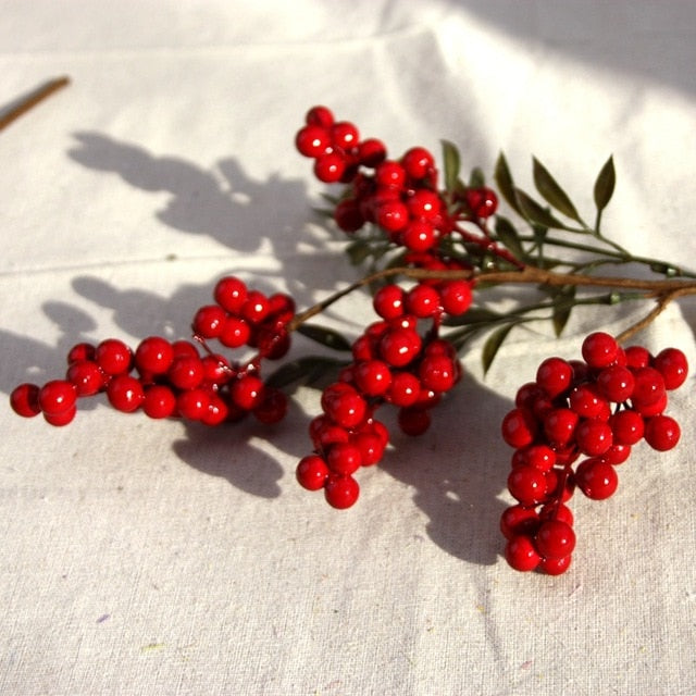 Artificial red berries