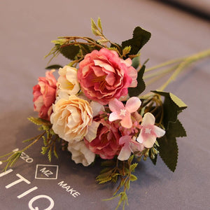 1 Artificial petite Peony Silk bouquet