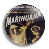 Marihuana Pulp Fiction 25mm Badge