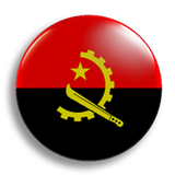 Angola Flag 25mm Badge