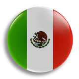 Mexico Flag 25mm Badge