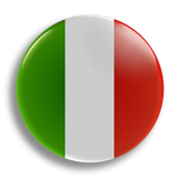 Italy Flag 25mm Badge