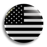 Black and White USA 25mm Badge
