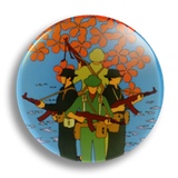Commie Flowers 25mm Badge