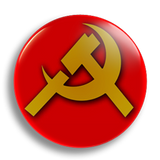 Hammer & Sickle 25mm Badge