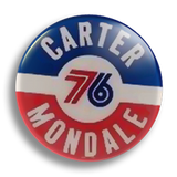 Carter 76 Election 25mm Badge