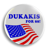 Dukakis US Election 25mm Badge