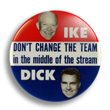 Ike and Tricky Dickie 25mm Badge