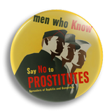 Men Who Know.. Vintage Poster 25mm Badge