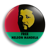 Free Nelson Mandela 25mm Badge
