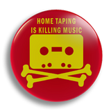Home Taping red, 25mm Badge