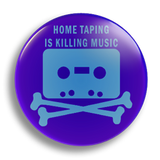 Home Taping blue, 25mm Badge