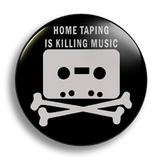 Home Taping black, 25mm Badge