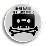 Home Taping white, 25mm Badge