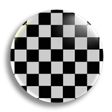 Checker Two Tone 25mm Badge