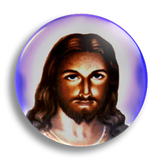Halo Jesus 25mm Badge