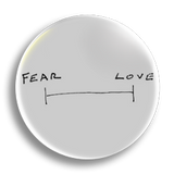 Fear Love 25mm Badge