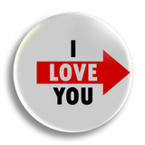 I Love You, right 25mm Badge