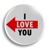 I Love You, left 25mm Badge