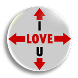 I Love You All, 25mm Badge