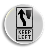 Keep Left 25mm Badge