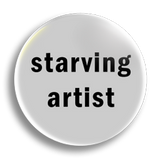Starving Artist 25mm Badge