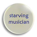 Starving Musician 25mm Badge