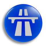 Motorway Sign 25mm Badge