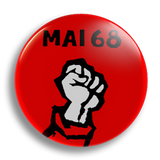 May '68 Fist 25mm Badge