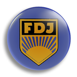 FDJ 25mm Badge