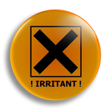 Irritant Warning 25mm Badge