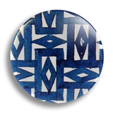 Blue Tile 25mm Badge