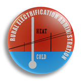 Heat and Cold 25mm Badge