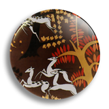 Deer Pattern 25mm Badge