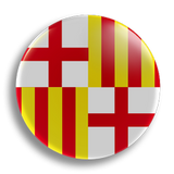 Barcelona Flag 25mm Badge